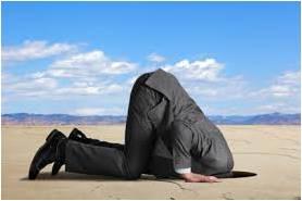 Burying head in sand
